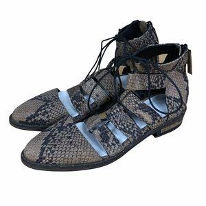 Freda Salvador Air Ghillie Snakeskin Strap Sandals